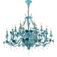 Decorative Crystal 12+6 Arms Hanging Flower Pendant Lamp Wedding Tent Home Hotel Chandelier Light