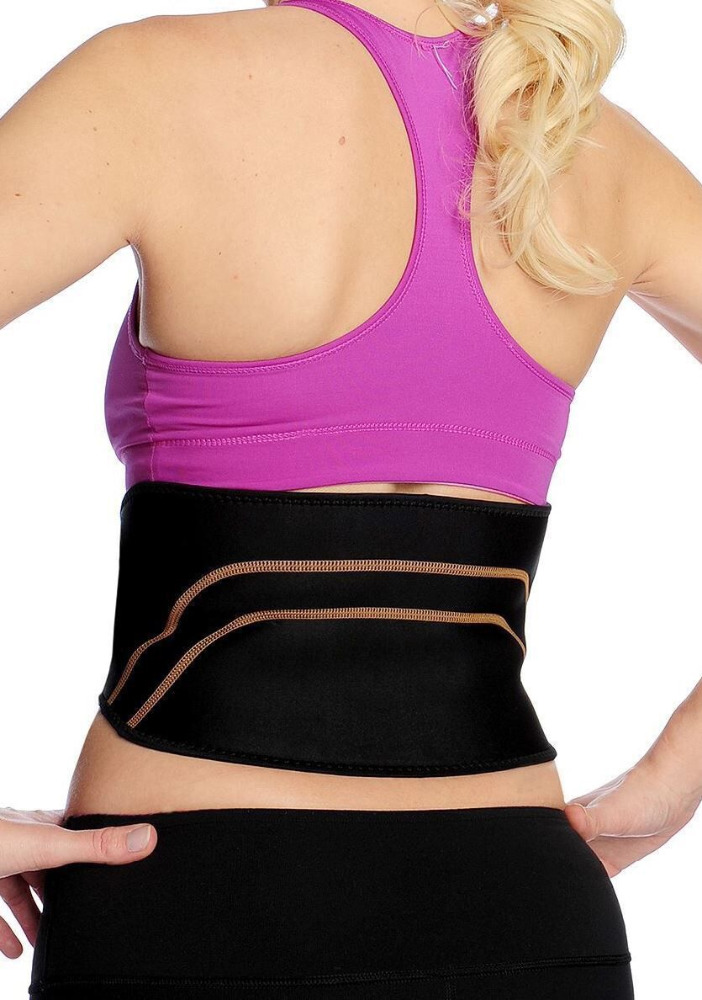 Copper infused Lower Back Lumbar Support Recovery Brace