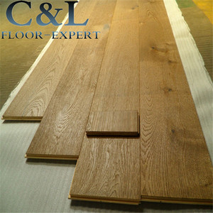 Oiled prefinished smooth brushed 14mm wide oak engineered wood flooring