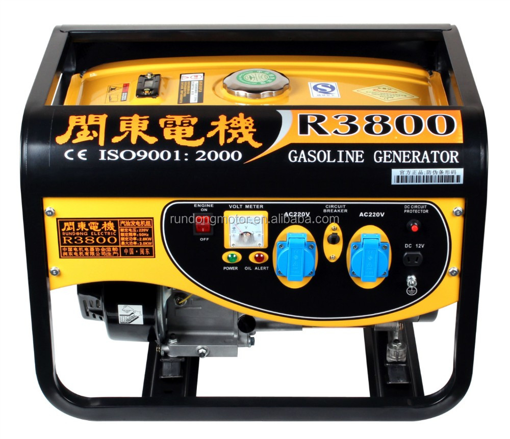 2016 newly developed air cooled 4-stroke OHV 3800 watt gasoline generator