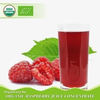 NOP EU Certified Organic Raspberry juice concentrate