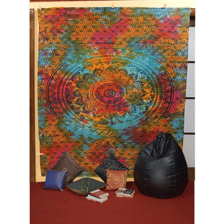 Raajsee-Indian Mandala Tapestry,Hippie Tapestry,Bohemian Boho Bedspread Tapestry,Dorm Tapestry,Wall Tapestry,Tapestry Wall Hangings,Single Bedsheet Tapestry#bs43