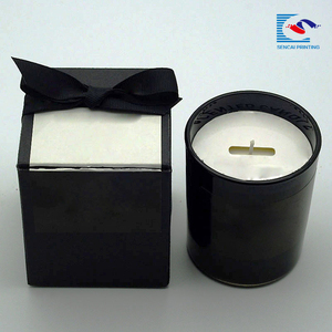 Free sample custom handmade black candle packaging paper boxes wholesale