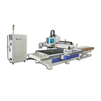 1300*2500mm vertical drilling auto feeding cnc machine ATC cnc wood board router with Syntec Controller