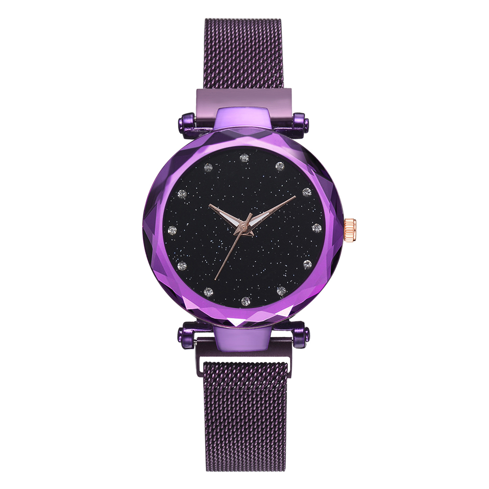 Fashion Lvpai Starry Sky Alloy Magnet Buckle Mesh Belt Watch Casual Quartz Shining Star Point Analog Watch For 2018 Ladies Gift, As show