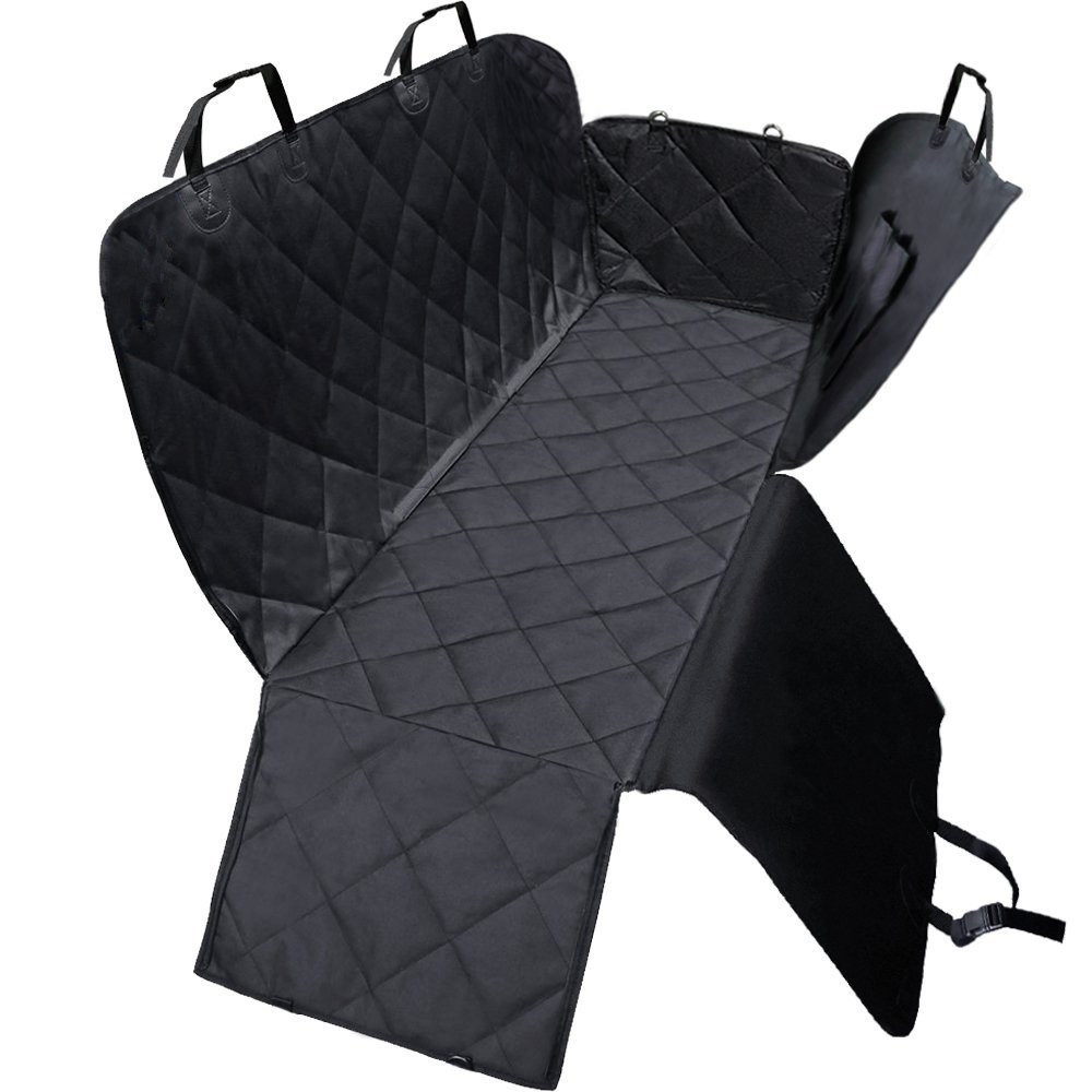 Waterdichte hond hangmat pet dog car seat cover met zijflappen gratis monster