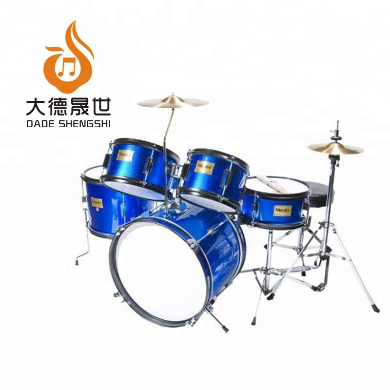 Mit verstellbarem Thron, Becken, Pedal & Drumsticks Metallic Blue 16 Zoll 5-tlg. Komplettes Kinder- / Kinder- / Junior-Drumset