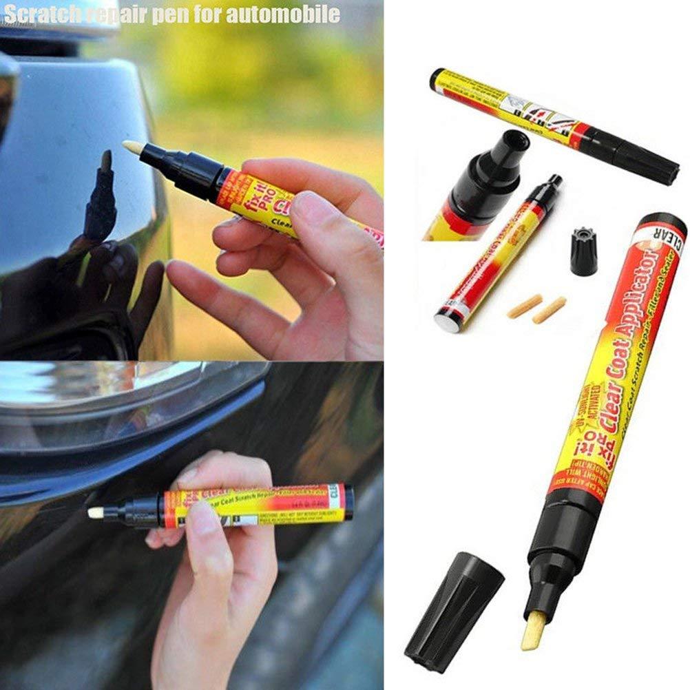 Car Scratch Repair Remover Filler & Magic Fix Clear Car Scratch Repair Remover Pen Clear Coat Applicator for All Cars, Not for Deep Scratch