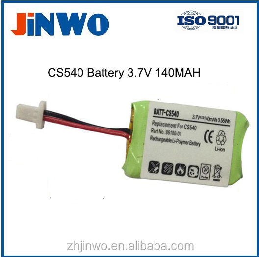 CS540 Battery Headset Battery 3.7V 140mAh LiPo Wireless Headset Batteries CS540