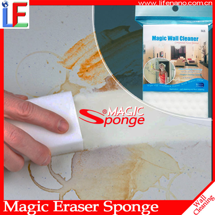 Factory supply Magic Melamine Sponge wall cleaning brushes for footprint/poor handwriting stains