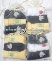 New Children's clothing cute body suit pack 3 pcs in 1 bag for kids 2012