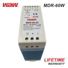 WODE March Expo Hot Sale Model Single Output 220Vac 60W Din Rail Power Supply 5V