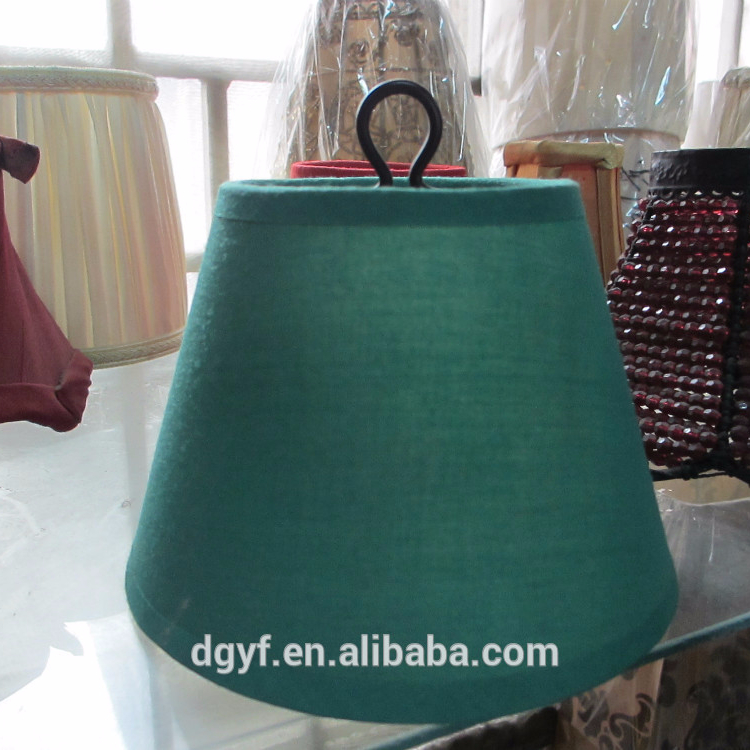 round fabric lamp shade green pendant fabric lampshade in hot selling