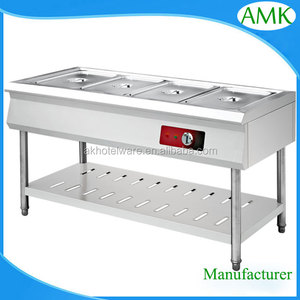 Restaurant Stainless Steel Table Top Keeping Warmer Buffet Server for Fast Food Equipment Factory