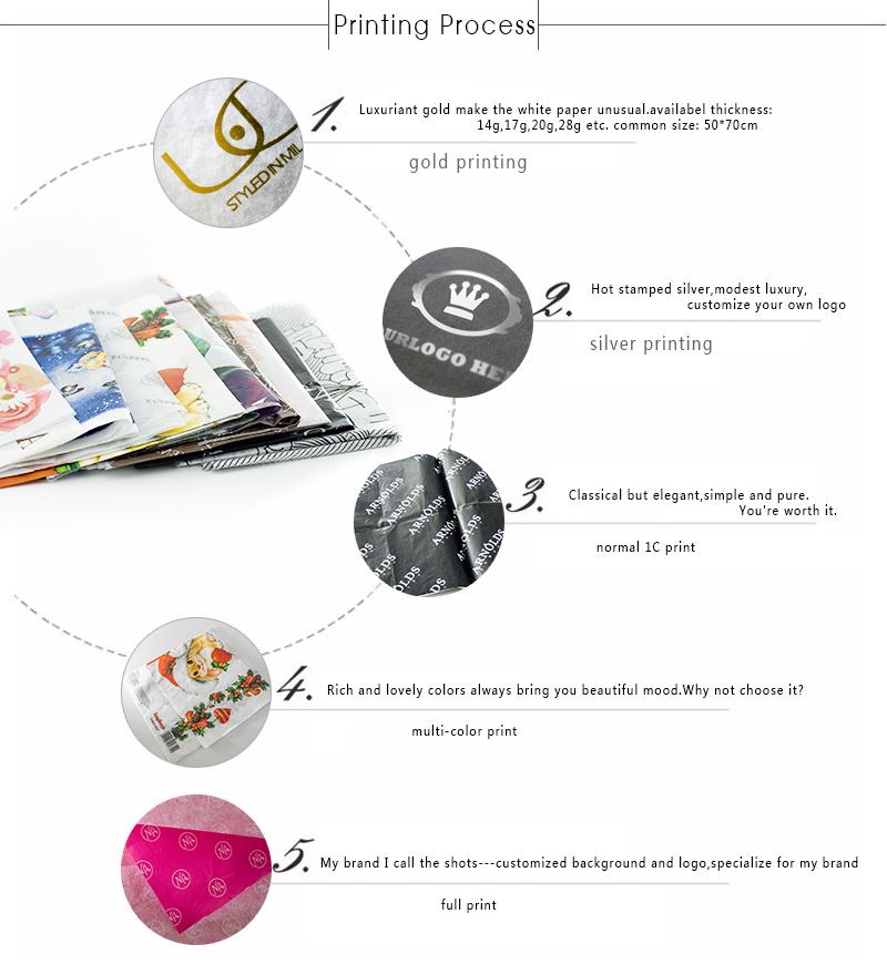 Wholesale Factory Simple Custom Printing Seidenpapier für Schuhe
