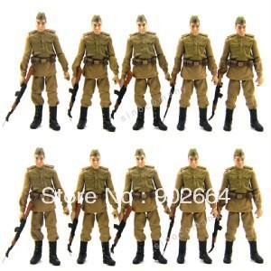 FreeShip Lot 10 Pcs Russian Soldiers Troopers Indiana Jones Figures W 10GUN L05