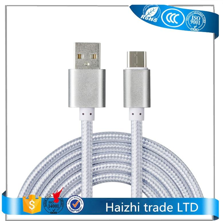 usb charger data cable,nylon usb type c cable fast charging cable for oneplus