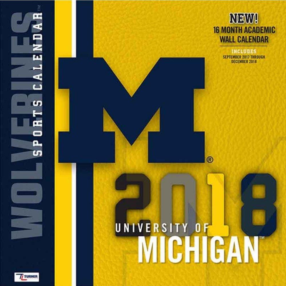 2018 Michigan Wolverines Wall Calendar