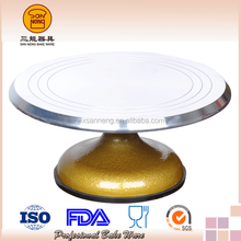 ISO Supply Casting Aluminum Revolving Cake Stand For Cake Decorating Tray