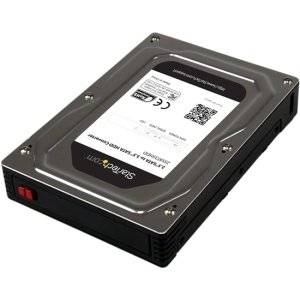 """StarTech.com 2.5"""" to 3.5"""" SATA Aluminum Hard Drive Adapter Enclosure with SSD/HDD Height up to 12.5mm - 1 x Total Bay - 1 x 2.5"""" Bay - 25SAT35HDD"""