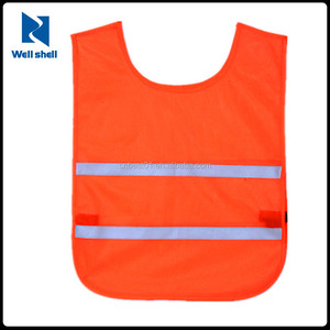 Grey Reflective Strips Traffic Clothes High Visibility Kids Safety Vest Children Waistcoat Vest