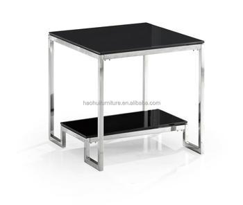 Modern Two Layers Metal Coffee Table