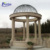 Large decoration garden outdoor wedding sunset red marble dome stone column gazebo with metal cap