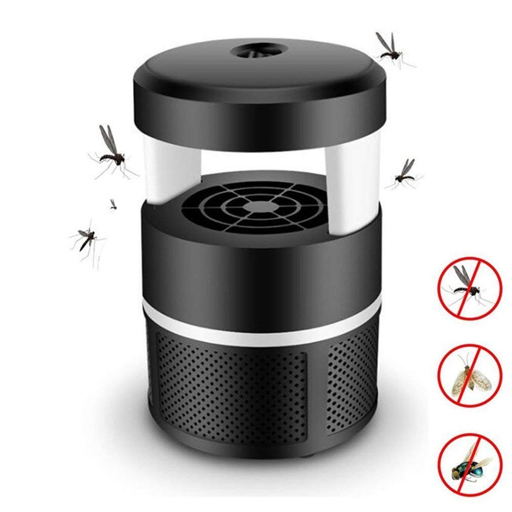 Cooshow Mosquito Killer, USB Powered Electric Mosquito Trap Lamp Chemical-free UV LED Photocatalyst Fly Bug Dispeller with Suction Fan for Indoor Home Kids Baby