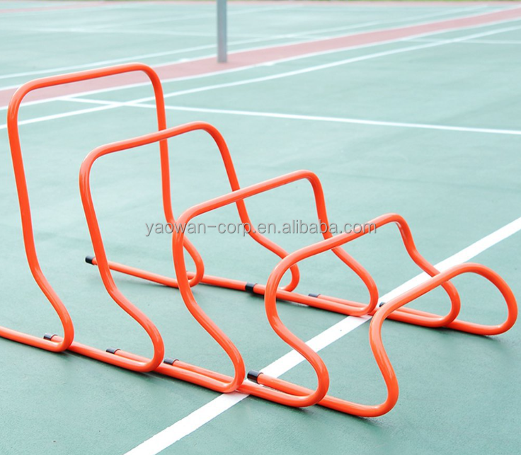 38cm/15 inches height plastic football training athletics hurdles