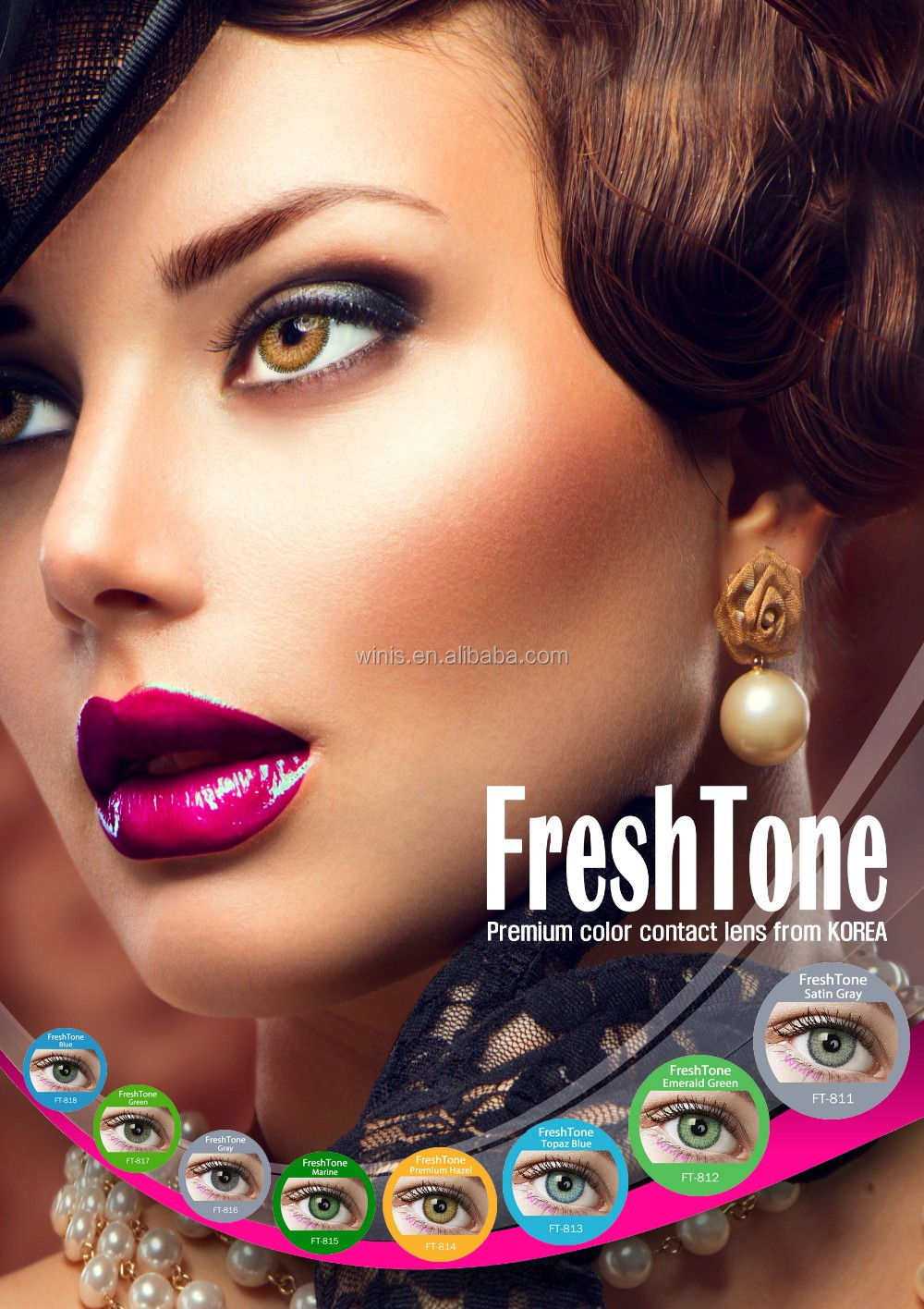 0b90cb5add Freshtone 3 Tone Blue Eye Lenses Best Selling Premium Quality Cheap Price  Korea Color Contact Lens - Buy Korea Color Contact Lens,Cheap Color Contact  Lens ...