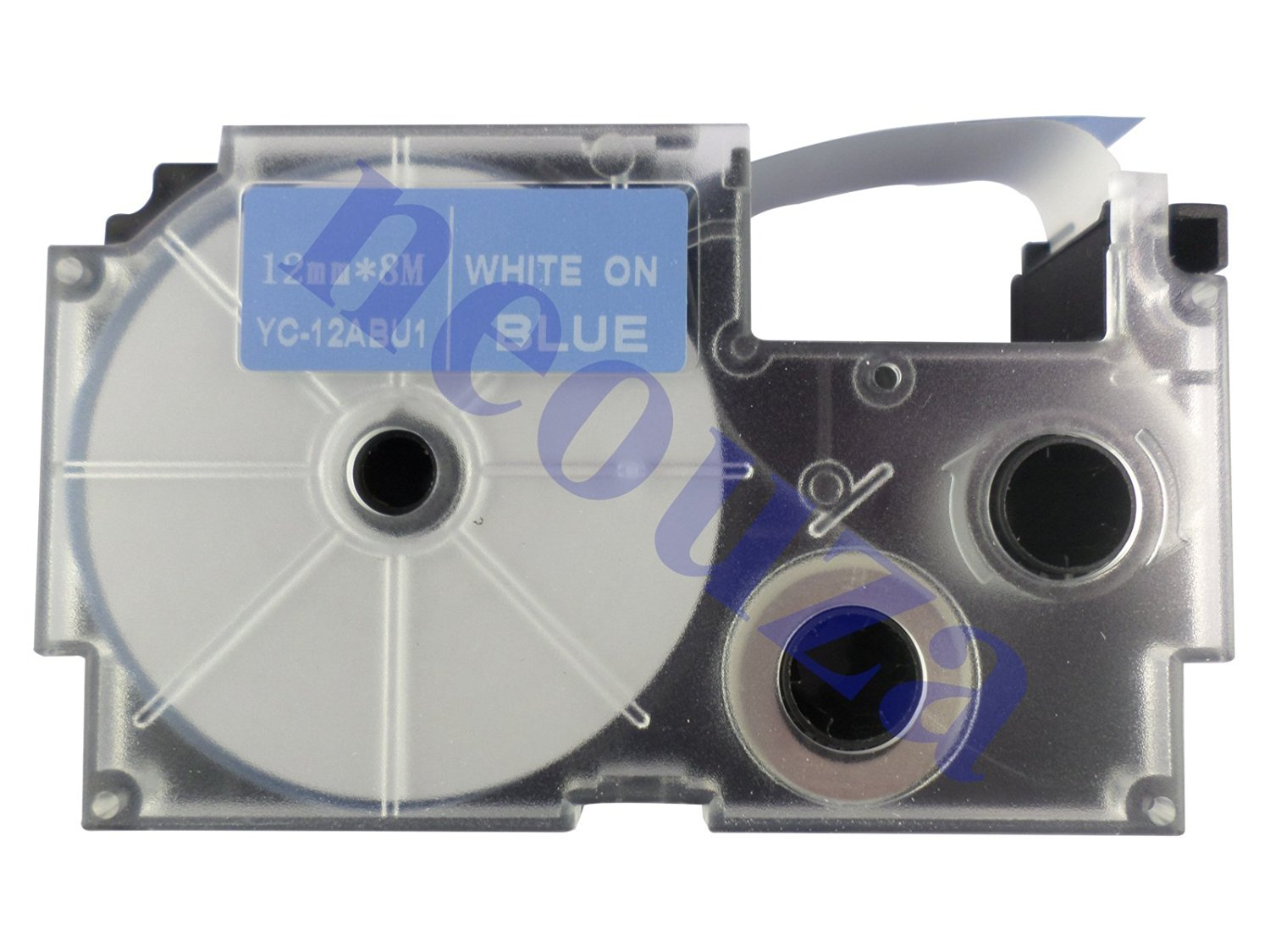 Compatible for Casio EZ-Label Tape 12mm White on Blue XR-12ABU1 8m LABEL IT!