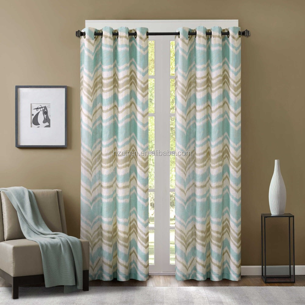 100 Polyester Printed Blackout Window Curtain Buy