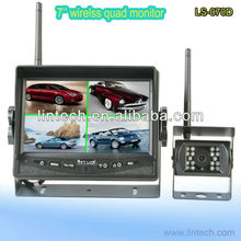 cheap waterproof digital signal reversing cameras security systems wireless with LCD split monitor