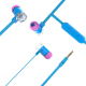 Stereo fashion earphones with mic and TPE cable,metallic wired earphones earplugs for smart phone