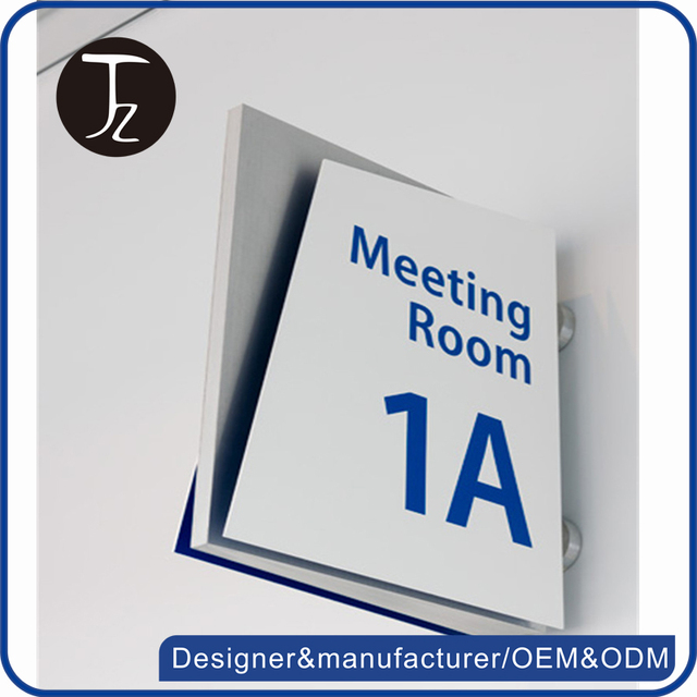 wholesale casting craftsman customized name on door sign conference