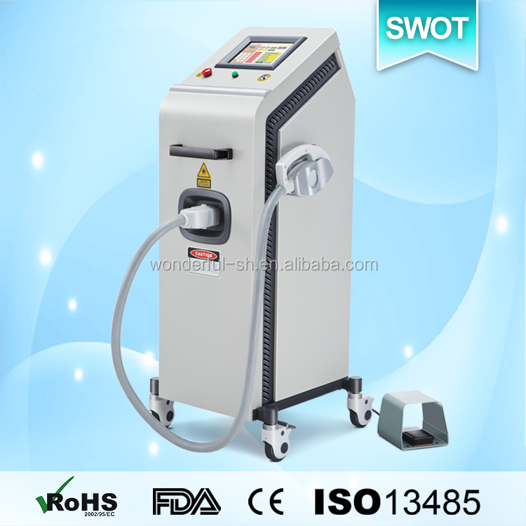 High quality laser machine hair and tattoo removal nd YAG