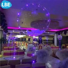 transparcent wedding decoration floating lighted balloon