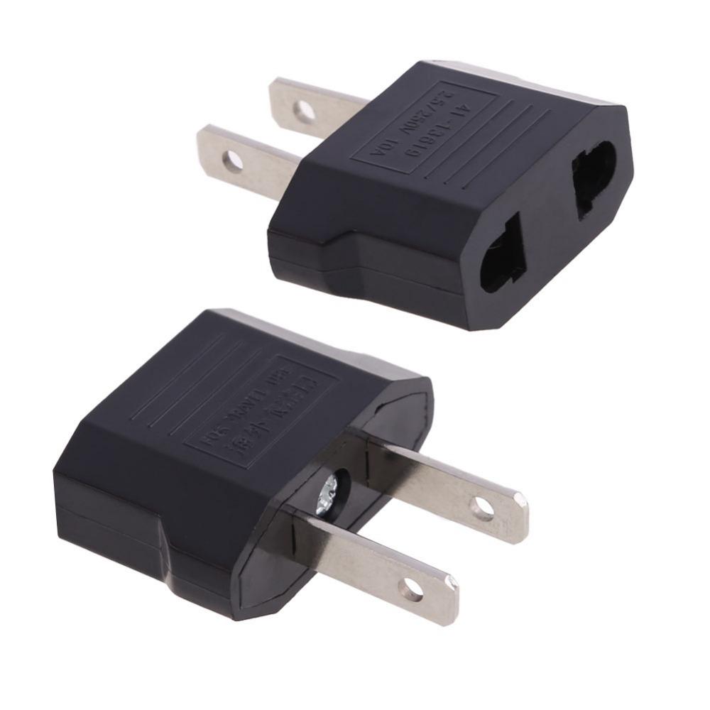adaptateur prise ue vers prise us eu to us plug adapter travel plug ebay. Black Bedroom Furniture Sets. Home Design Ideas