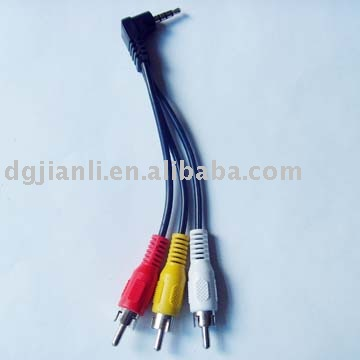 3.5 stereo cable to 3rca cable