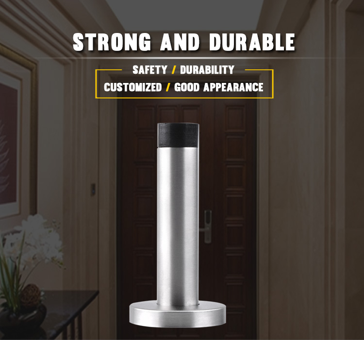 sus 304 door dust stopper door stop brushed nickel
