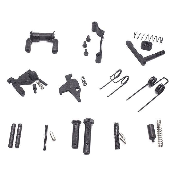 223/5.56 AR15 Lower Parts Kit Spring Kit Replacement with safety selecter, Black