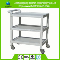 BT-UY002 HOT Sale utility trolley, ABS material plastic treatment trolley price
