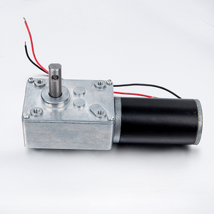 DC 12V 65RPM Self-Locking Worm Gear Motor 10kg-cm Reversible High Torque Speed Reduce Turbine Electric Gearbox Motor 8mm Shaft