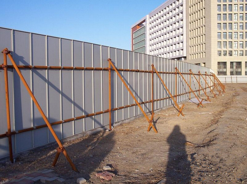 Colorbond Curved Corrugated Solid Temporary Metal Steel