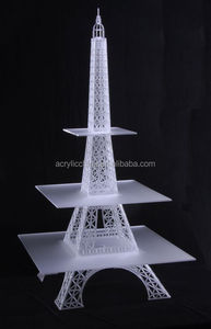 wedding-party-craft fairs lighted acrylic eiffel tower cupcake stand