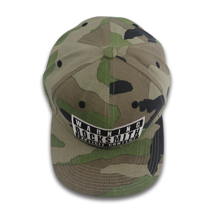 Custom camo Snapback cap with embroidery logo , Wholesale cap/HAT OEM service .