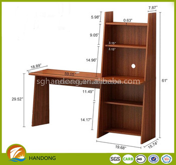 K D Wooden Grain Melamine Mdf Or Particle Board Computer Desk With