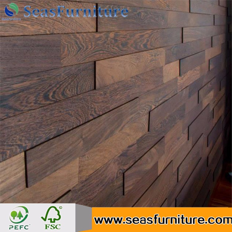 Factory Europe Style Decorative Interior Effect 3D Wood Wall Panel