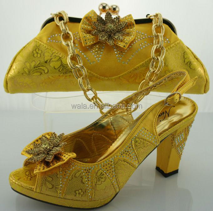 and shoe italian bag 2014 yellow matching SB809 new design YwxCwAqaB