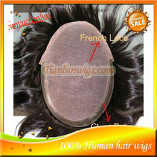 "Free Shipping! Indian Virgin Mens Toupee 6"" Silky Straight,9*7"" Human Hair Mens Wig,Custom Order For Toupee"